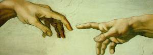 Manos Dios y Adán Capilla Sixtina